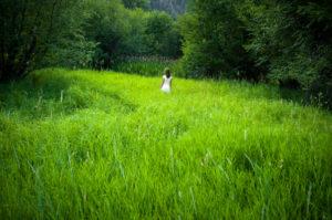 Lady in a Field - iStock