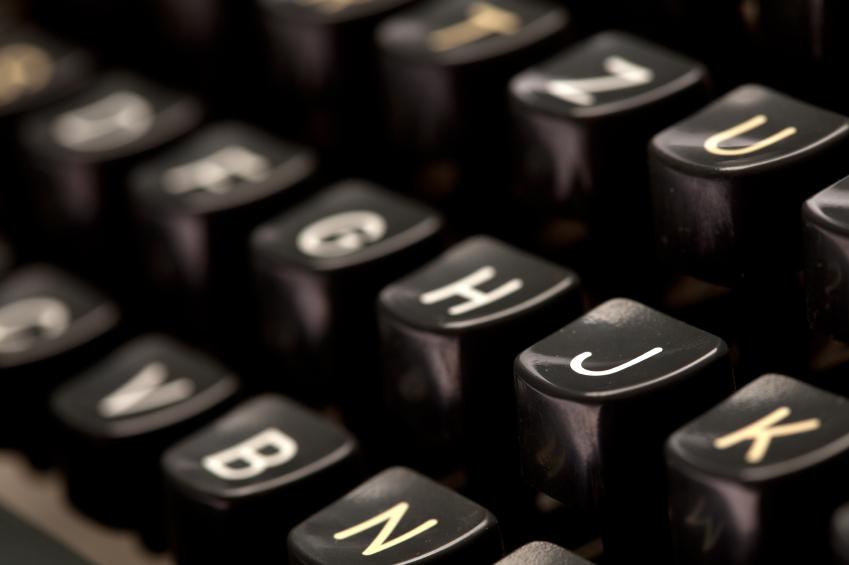 Close up of vintage typewriter machine - iStock