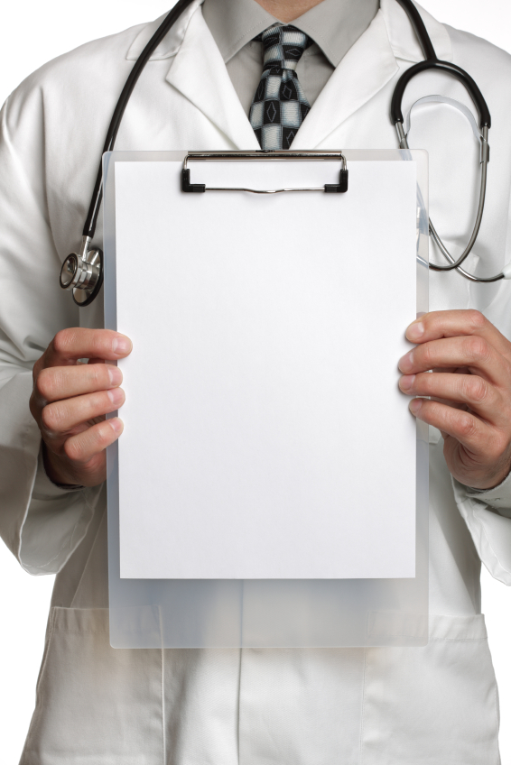 Dr with clip board