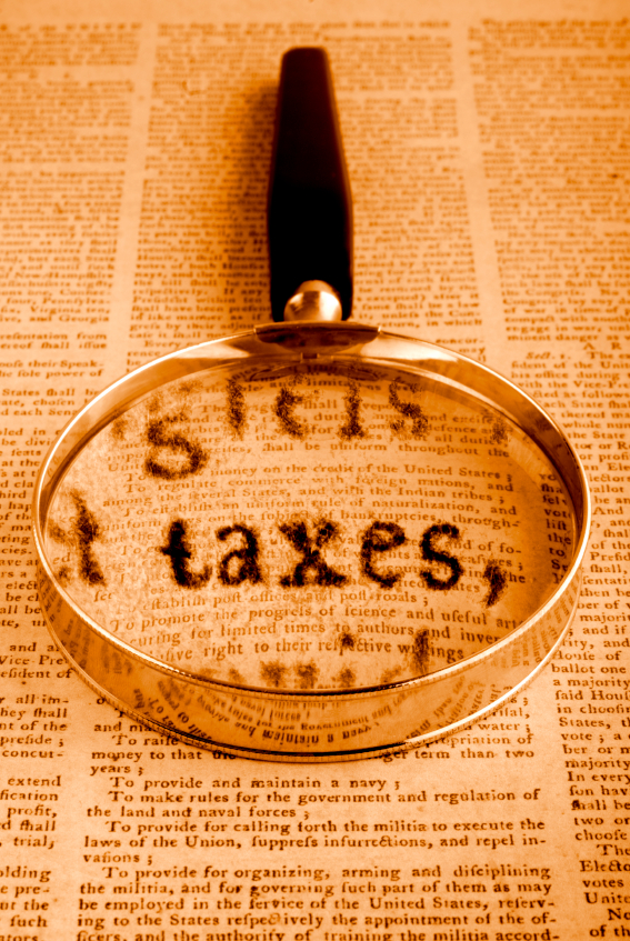 Taxes and Constitutuion - iStock